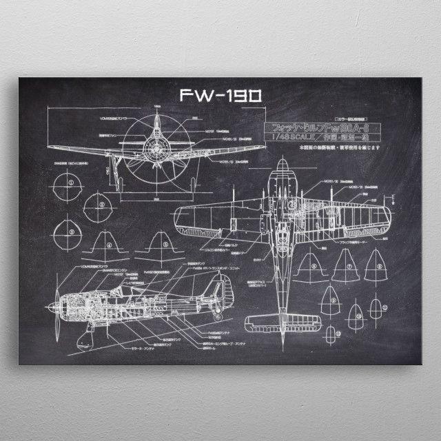 FW190 by FARKI15 DESIGN | metal posters - Displate | Displate thumbnail