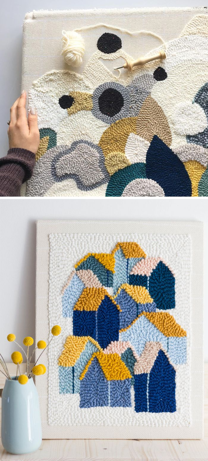 10+ Punch Needle Embroideries That'll Inspire You Set Down Your Sewing Needle #embroidery