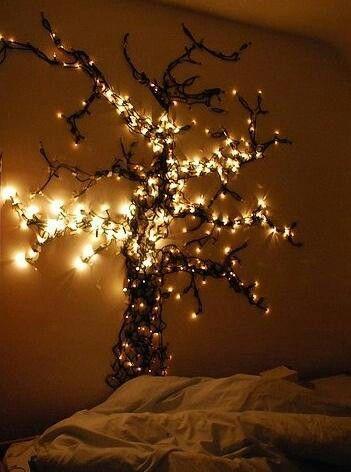 Fantastisch Lichterketten Schlafzimmer, Led Lichterketten, Baum Schlafzimmer,  Schlafzimmer Ideen