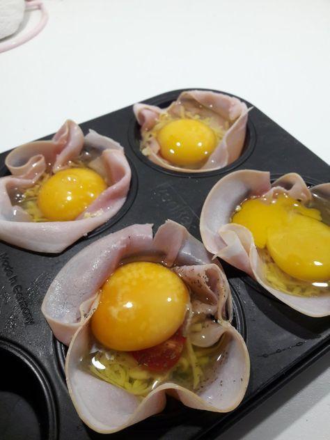Makkelijke eitje met ham uit de oven