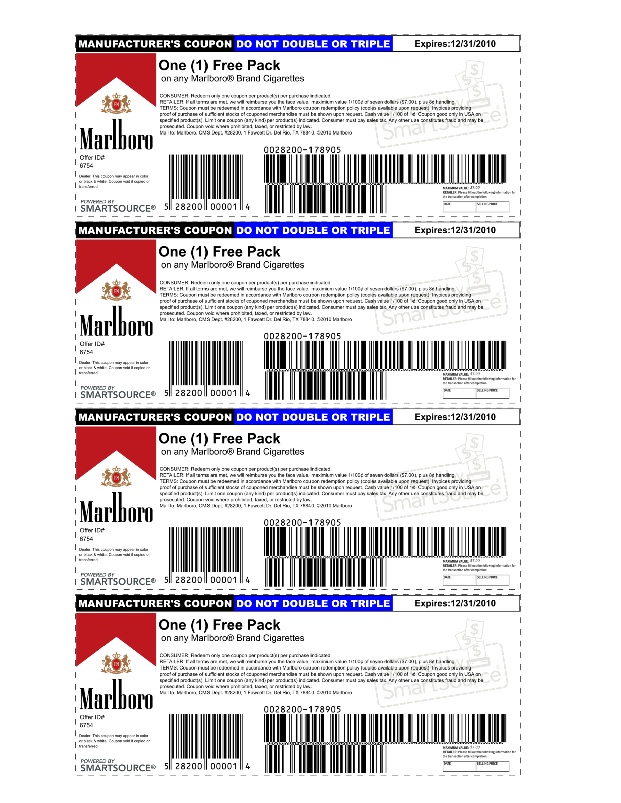 marlboro coupons printable 2013 | is using a possibly fake coupon