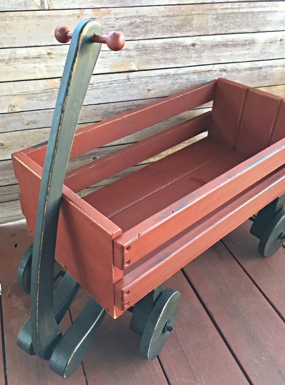 Wedding wagon flower girl ring bearer wood rustic toddler size fully
