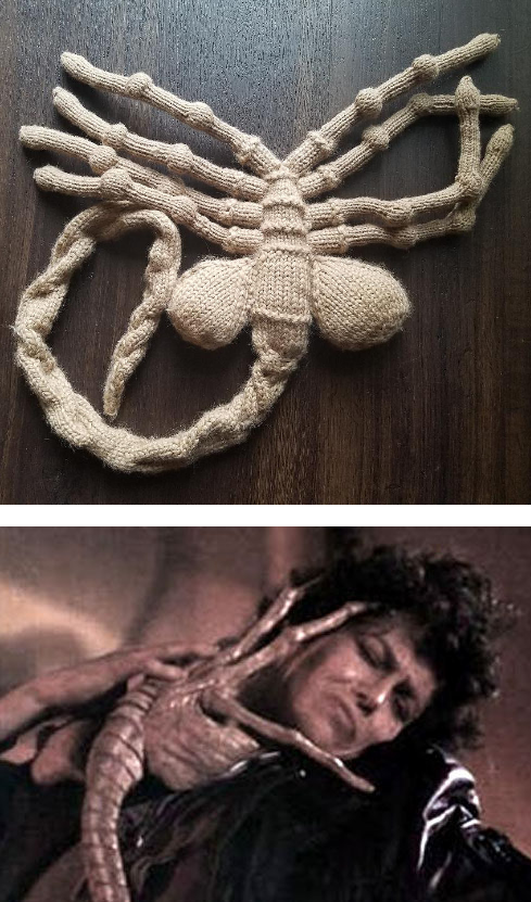 Free Knitting Pattern For Alien Facehugger Toy Plush Creature