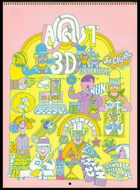 Psychedelic Hallmark Calendar 1970 8 71 By Mewdeep Via Flickr