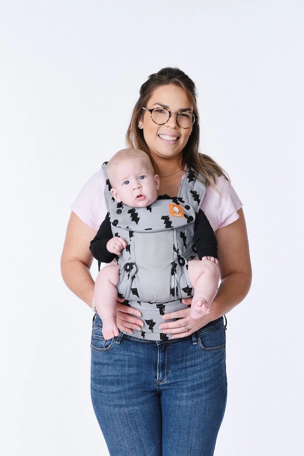 Shade Baby Swaddle Wrap Carrier Infant Boy and Girl Gray Stripes