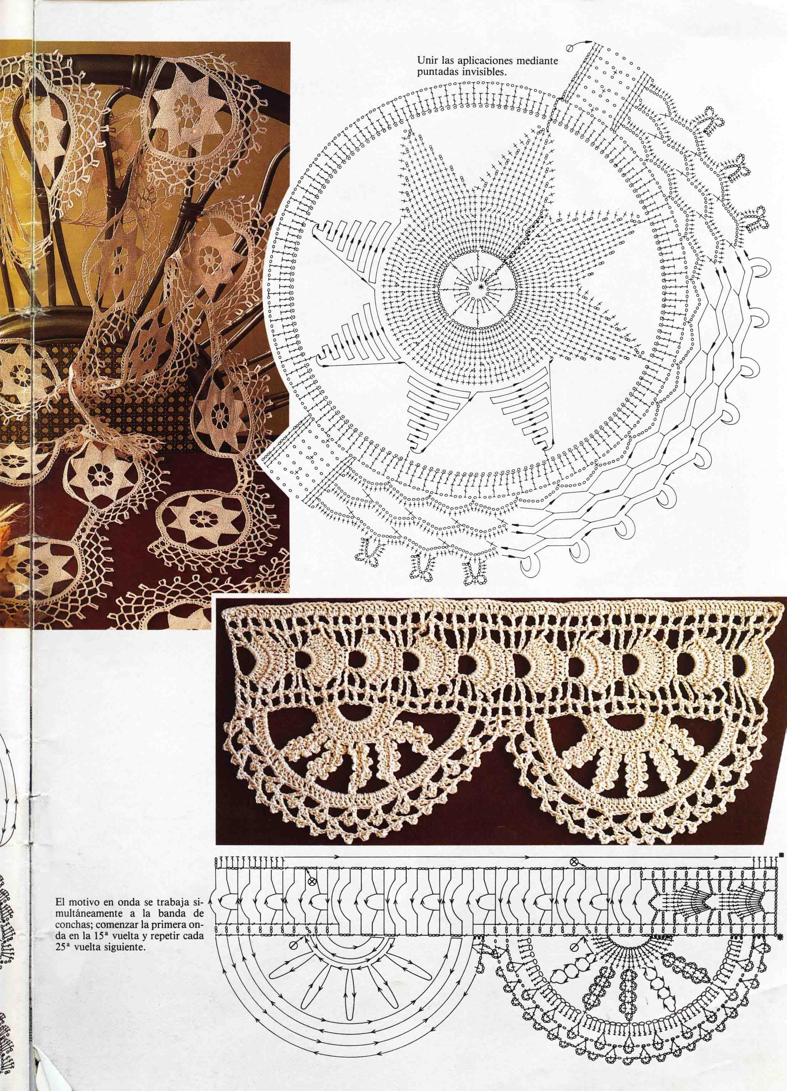 Pin de Maria Jose en crochet puntilla rectas | Pinterest | Croché ...