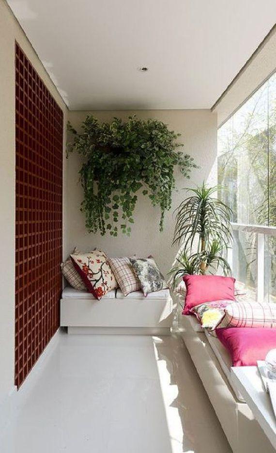Balkon Wanddeko.Der Kleine Balkon In Weiß 20 Wunderschöne Ideen дизайн