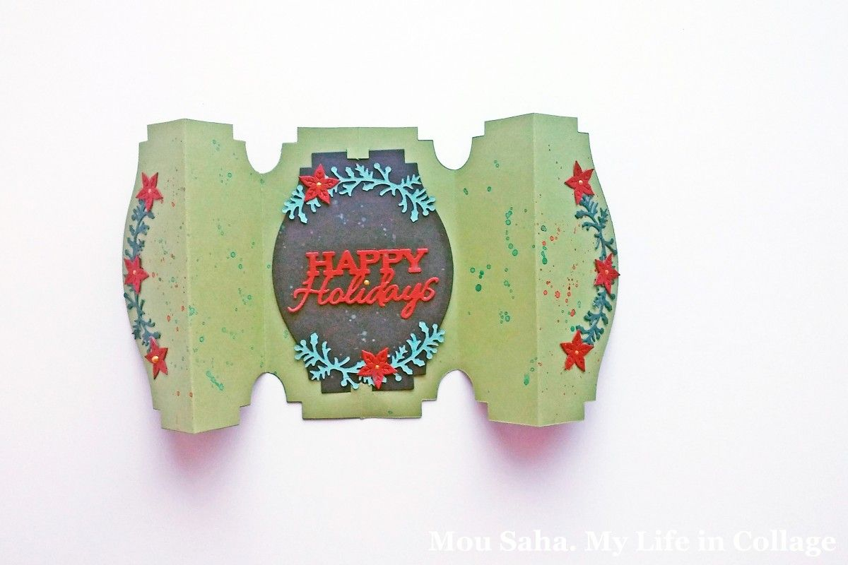 Sizzix Thinlits Die Set 6PK Ticket Fold-a-Long 660374 Jen Long Card