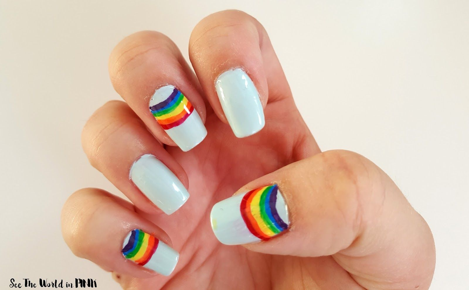 Manicure Tuesday - Mini Rainbow Accent Nails! | Accent nails ...