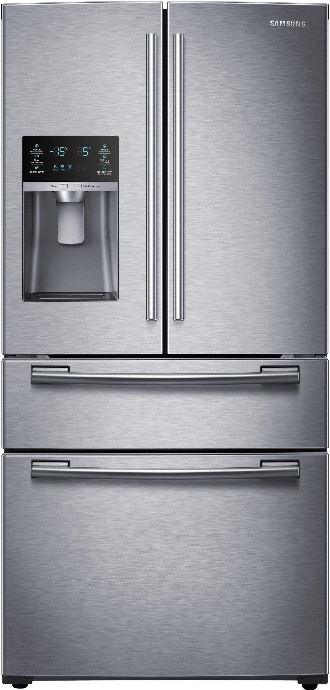 Samsung Rf25hmedbsr In 2020 French Door Refrigerator French