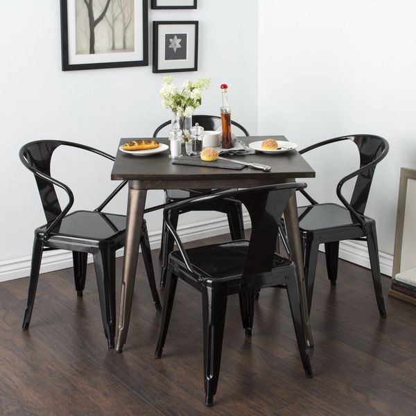 Black Tabouret Stacking Chairs (Set of 4) for $199.99. What? Can be ...