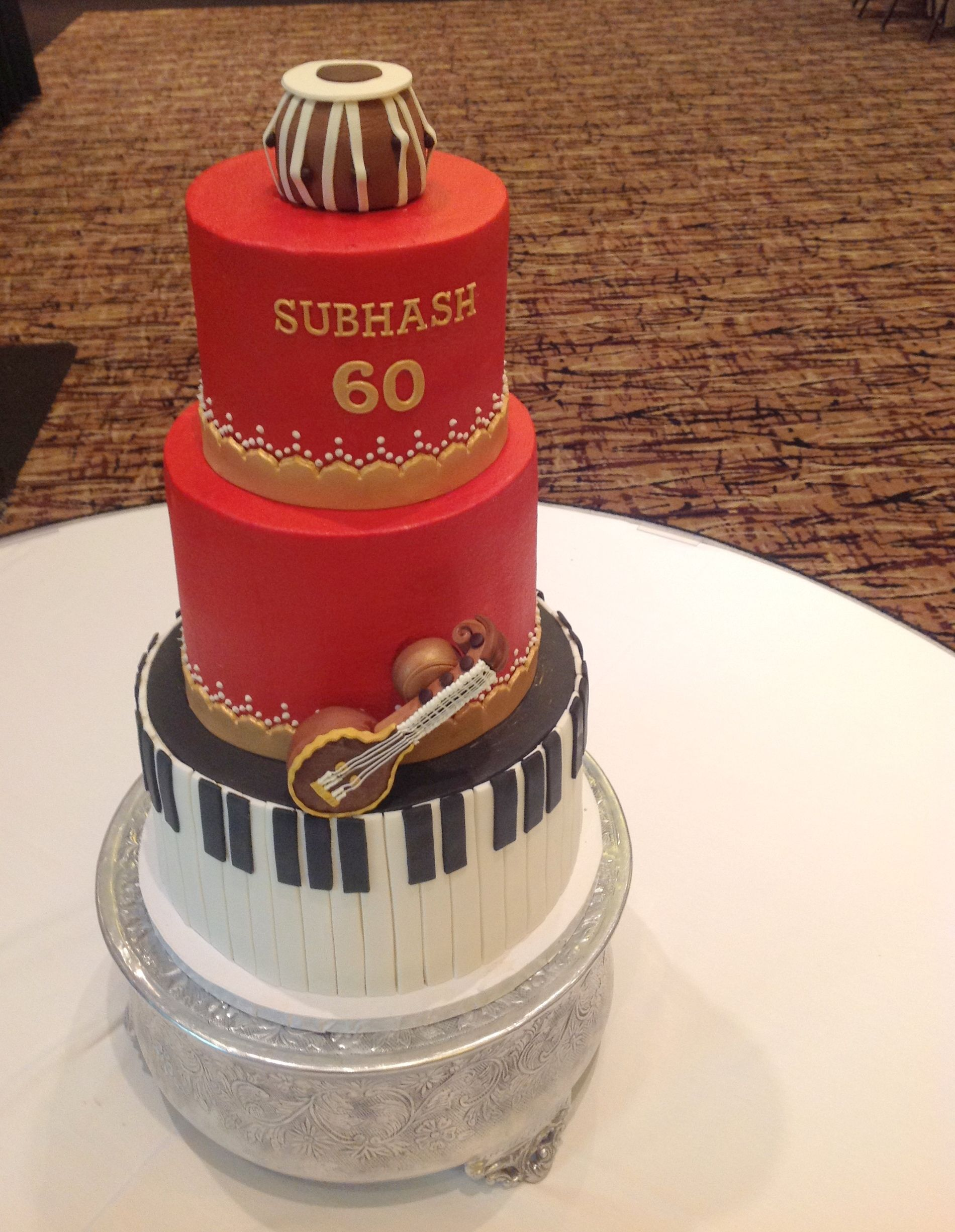 Indian Music Cake Cakes Man Birthday Celebration Groom
