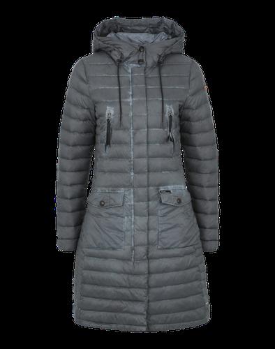 #Khujo #Damen #Daunenmantel #Rinara #grau Der Daunenmantel ´Rinara´ von Khujo hat nicht nur einen sportlich-lässigen Style zu bieten, er spendet auch noch Wärme. Dank der Daunen-Feder-Füllung ist er angenehm leicht.