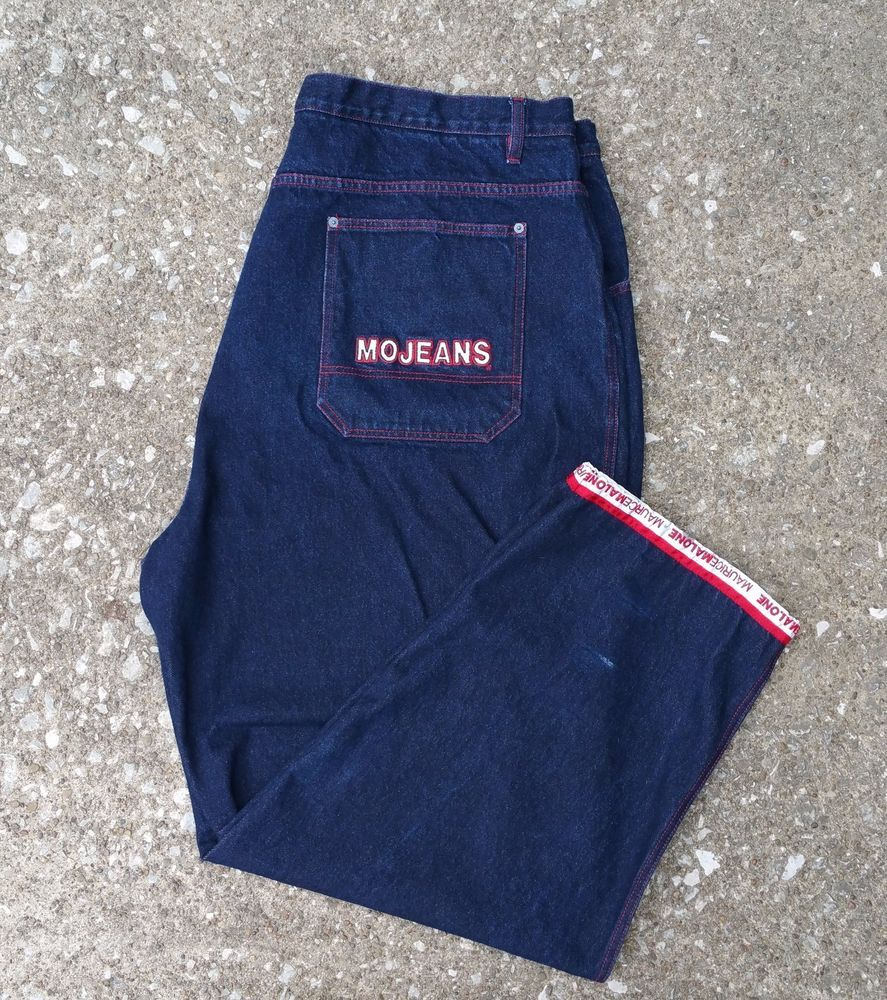 aa4443f9a0d maurice malone jeans   mojeans   3M reflector   size 48   big   tall   MauriceMalone  BaggyLoose