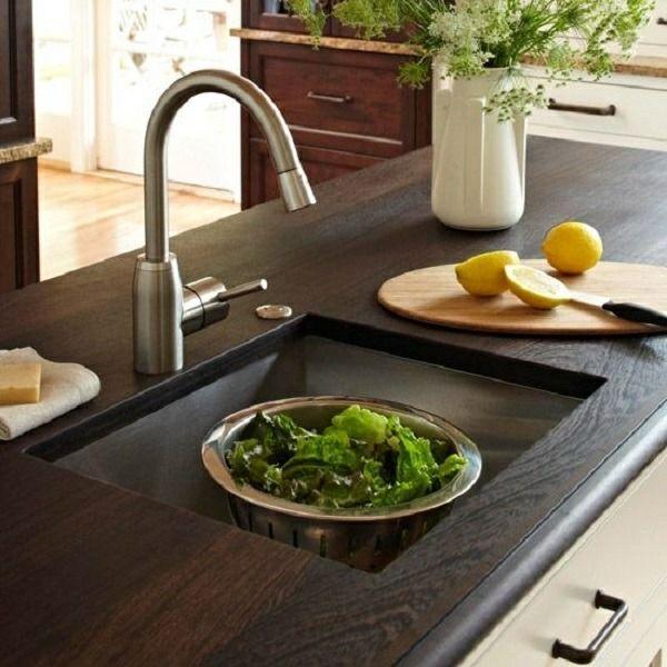 Plan de travail cuisine en 95 idées quel matériau choisir? - Table De Cuisine Avec Plan De Travail