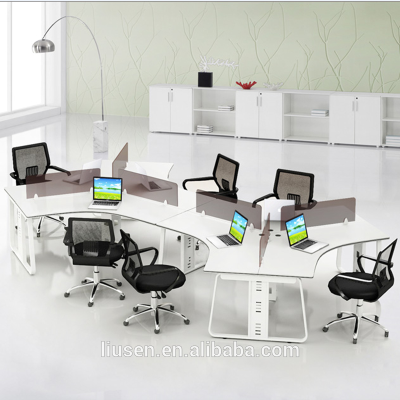 Quality Home Office Desks: Big Discount Superior Quality Modular 6 People S Shape