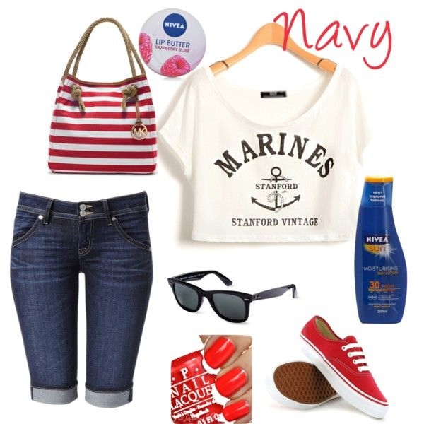 Navy by me on Polyvore