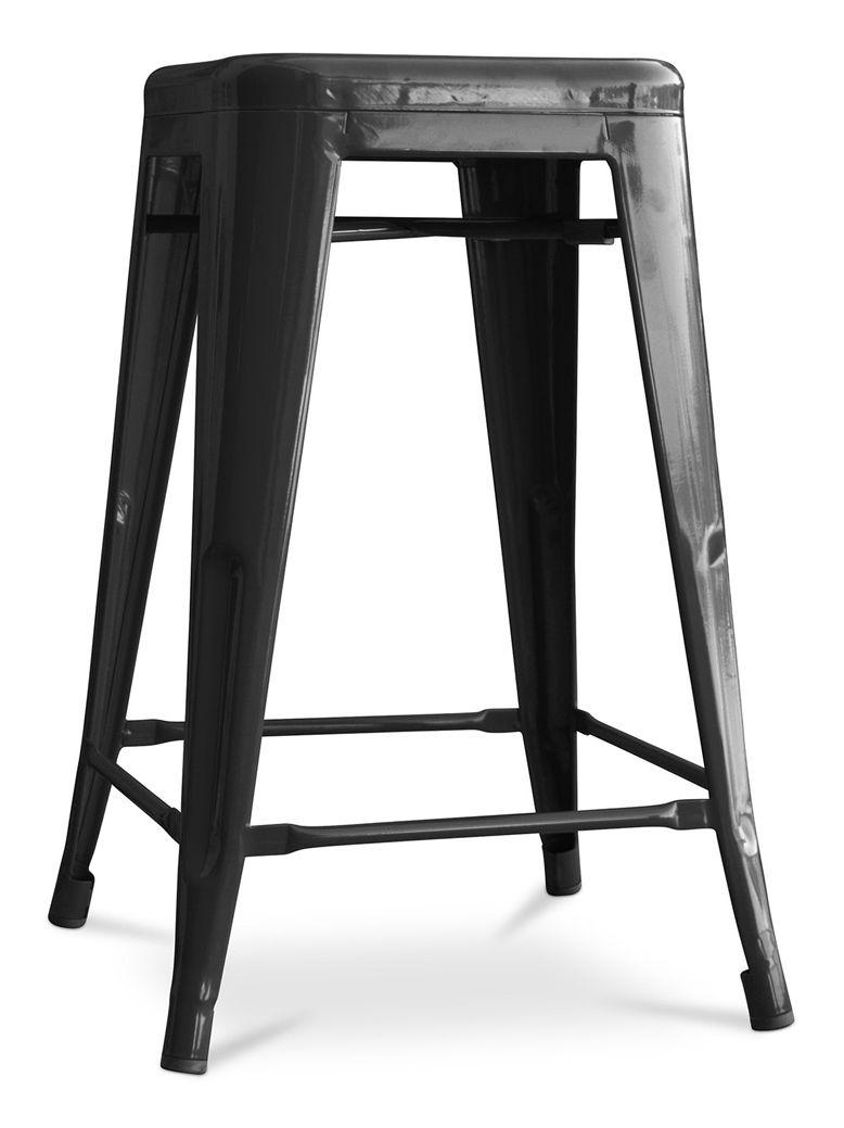 Tabouret Tolix 60cm Pauchard Style Metal Noir A193113 Home