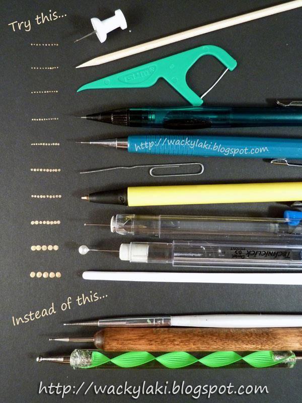 alternative nail art tools courtesy of wackylaki.blogspot.com ...