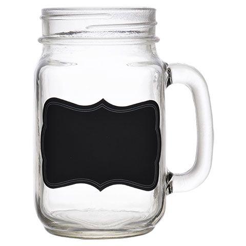 bulk mason jar mugs with chalkboard labels 16 oz at dollartree com