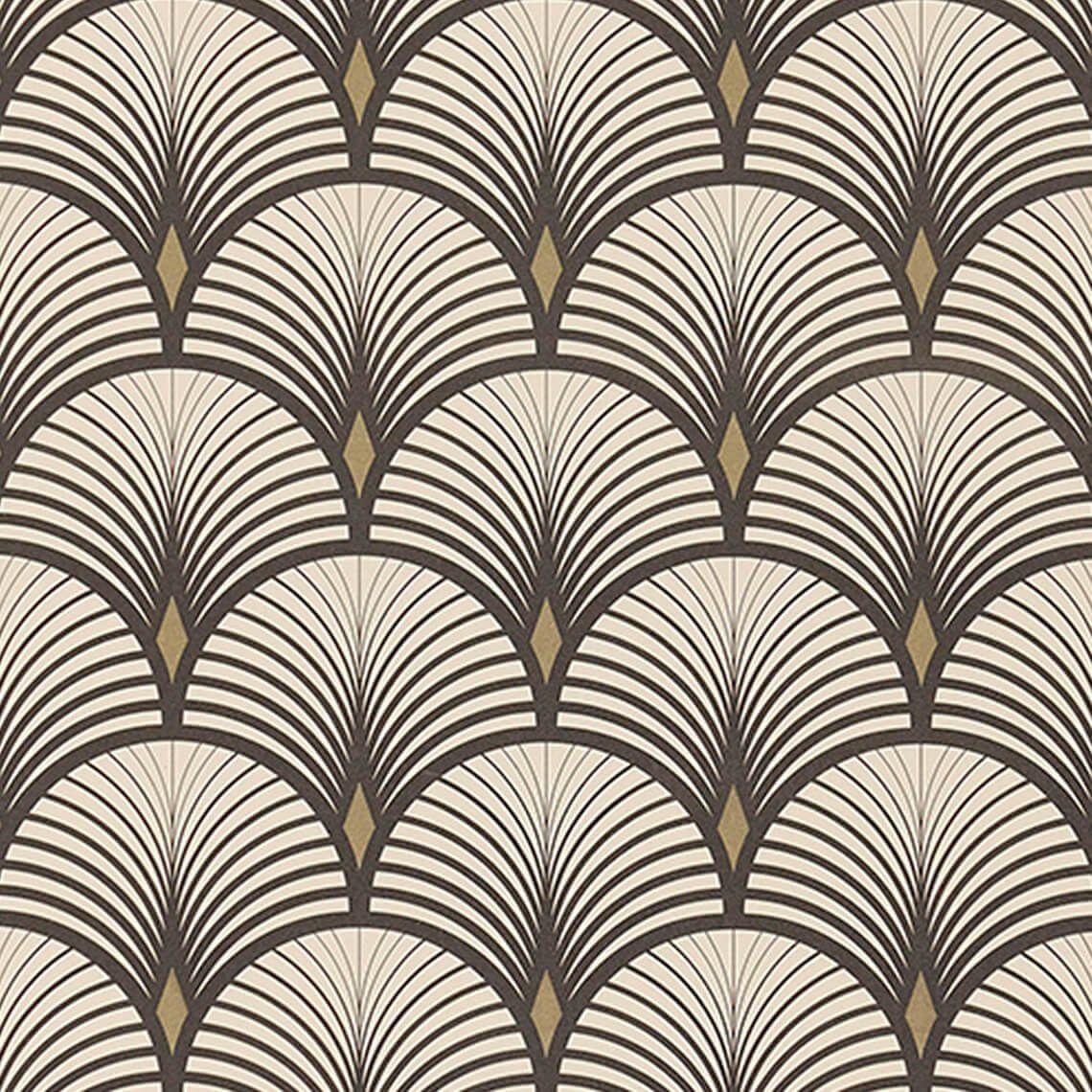 papier peint baker vinyle sur intiss graphique noir et dor in 2019 art deco papier peint. Black Bedroom Furniture Sets. Home Design Ideas