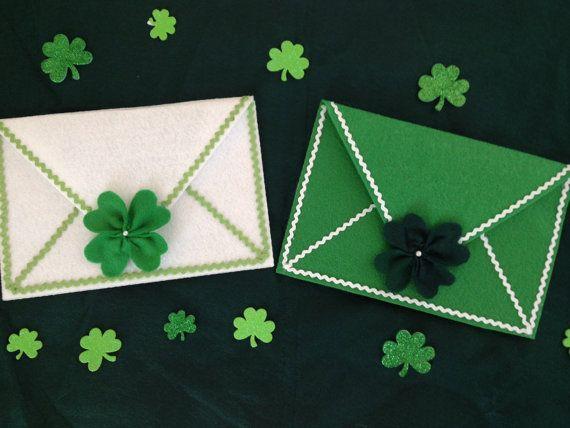 *New Item* St. Patrick's Day Envelopes #DeCoitesDeCrafts #StPatricksDay