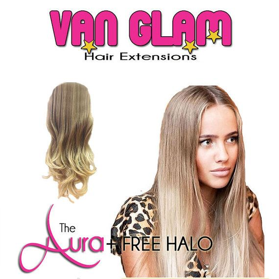 Great Deal Aura Crown Clip In Hair Extensions Halo 100 Cuticle