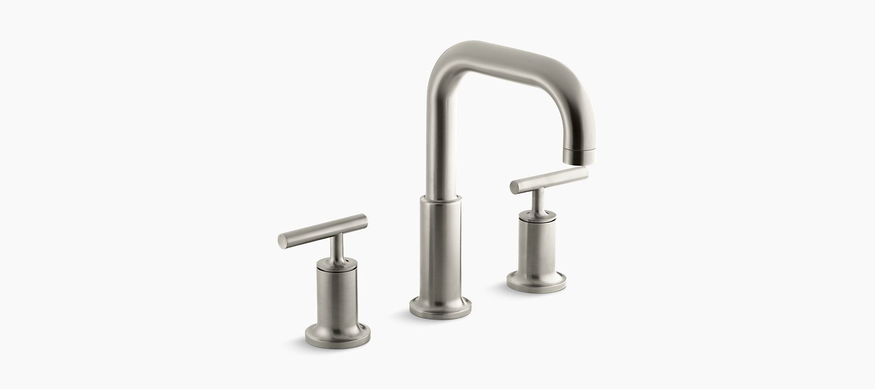 The K-T14428-4 bath faucet trim includes a gooseneck spout and two ...