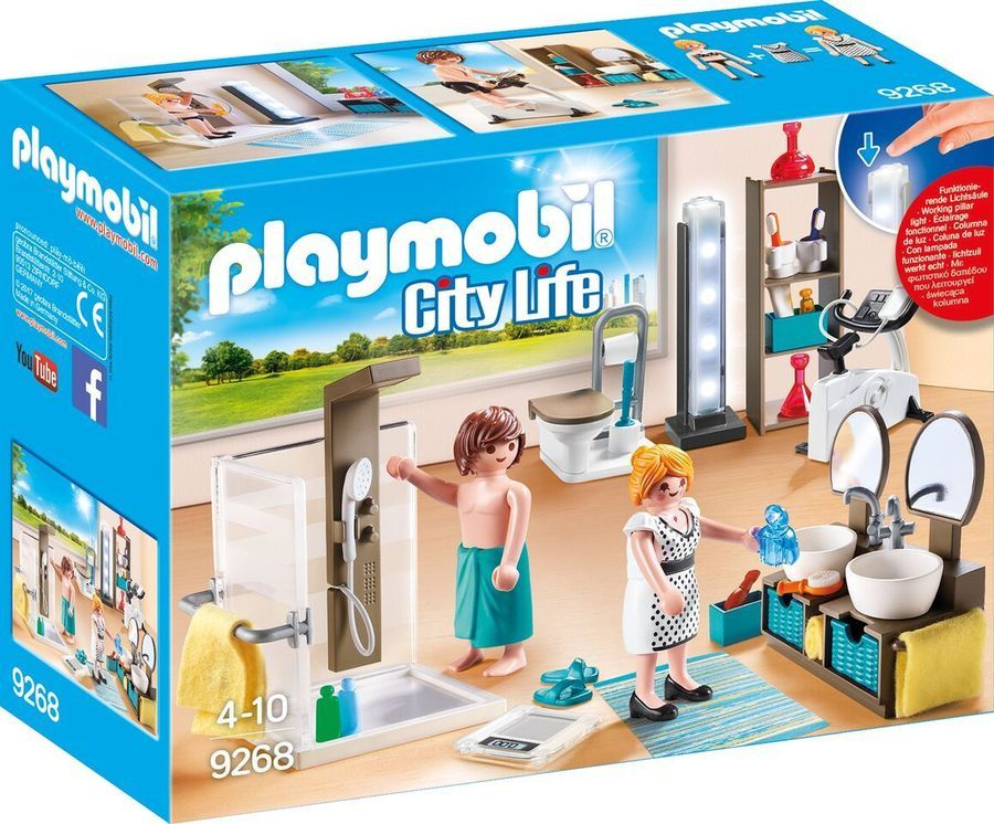 Playmobil庐 9268 Bathroom New 2017 Sh Free Worldwide