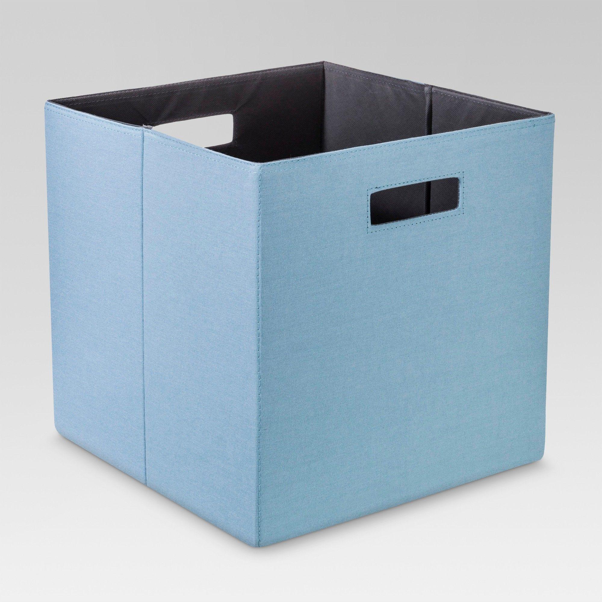 13 Fabric Cube Storage Bin Blue Threshold In 2019