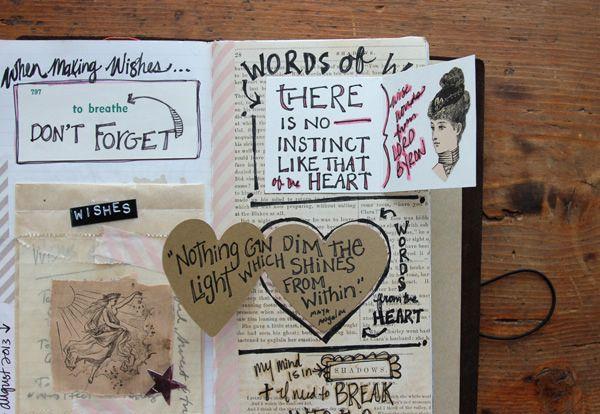 besottment.com traveler's notebook art journal