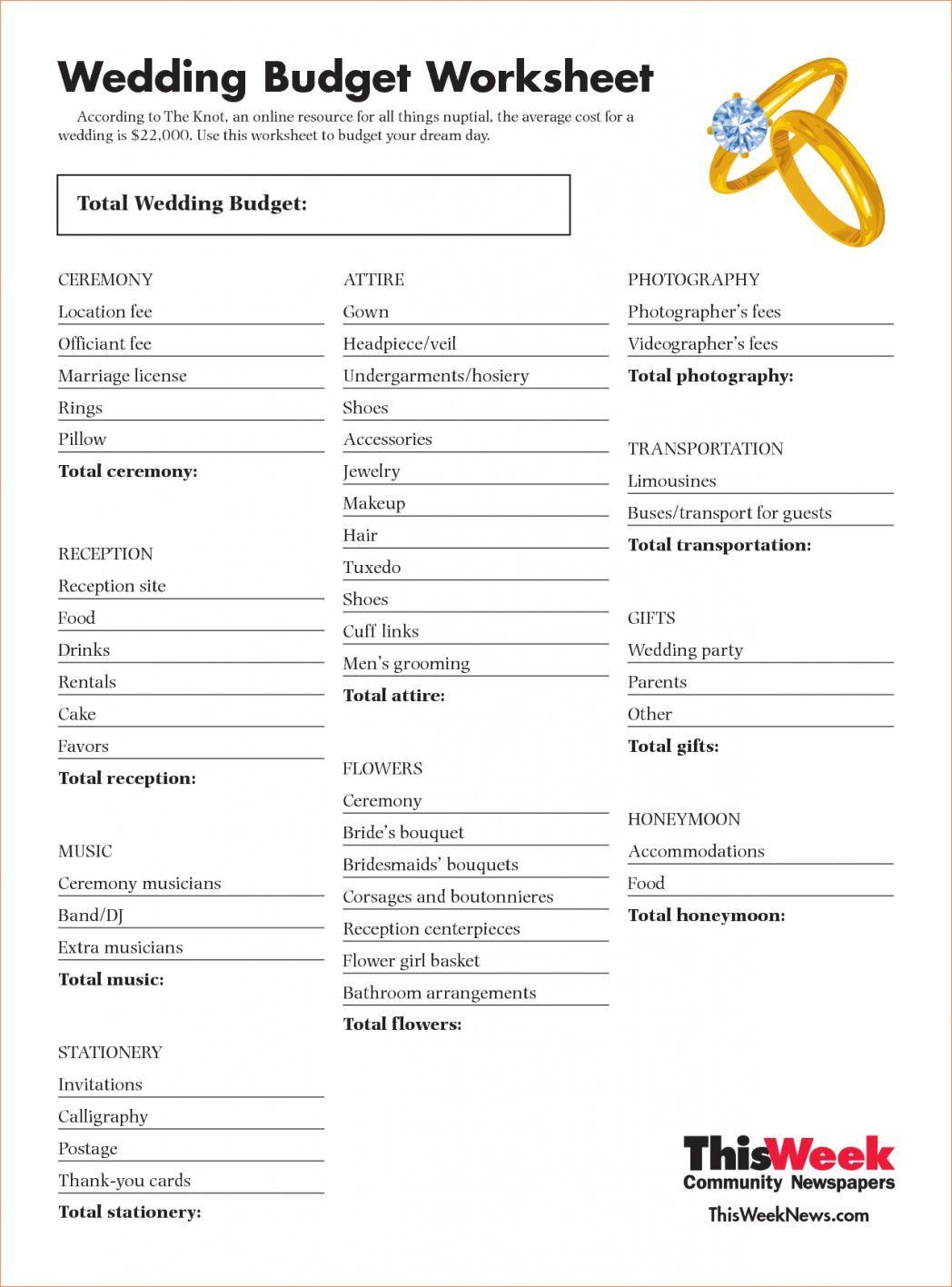 Wedding Budget Planner Budget Planner Wedding In