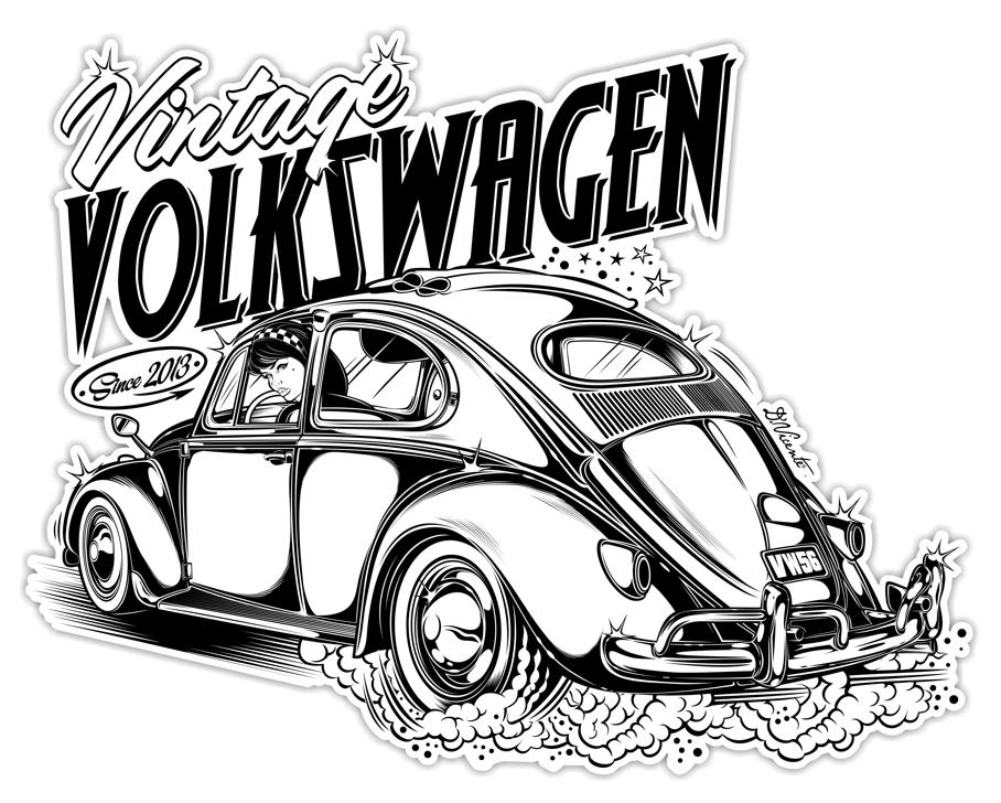 Logo Vintage Volkswagen