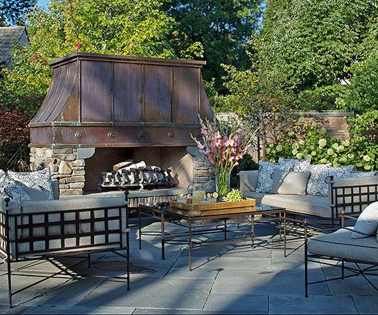 Outdoor Fireplace Ideas   Freestanding fireplace, Metals and ...