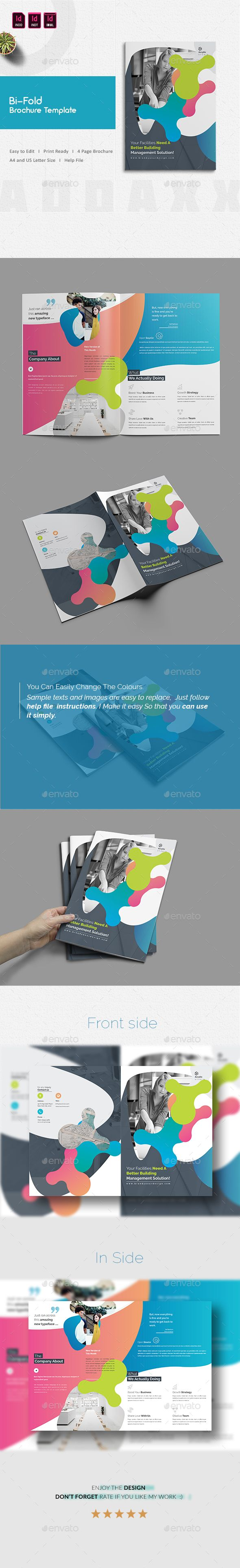 Bi-Fold Brochure Template | Brochure Template, Brochures And Corporate  Brochure
