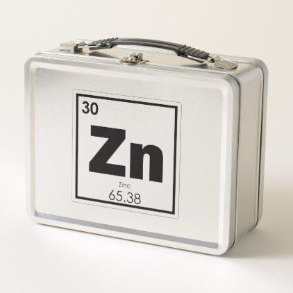 Zinc Chemical Element Symbol Chemistry Formula Gee Metal Lunch Box