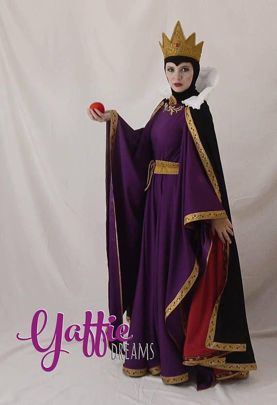 Evil Queen Costume Adult Snow White Halloween Fancy Dress