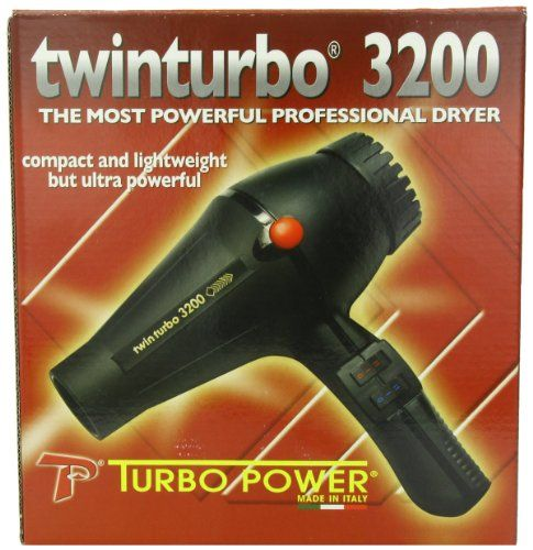 Pibbs Twinturbo 3200 1900 watt Compact Lightweight Hair Dryer Black ** Click image for more details.