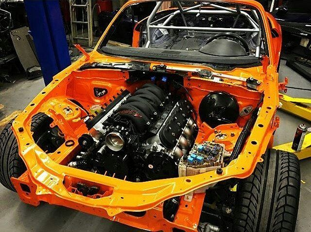 v8roadsters 1000+whp nc turbo build! #topmiata #lsmiata topmiata