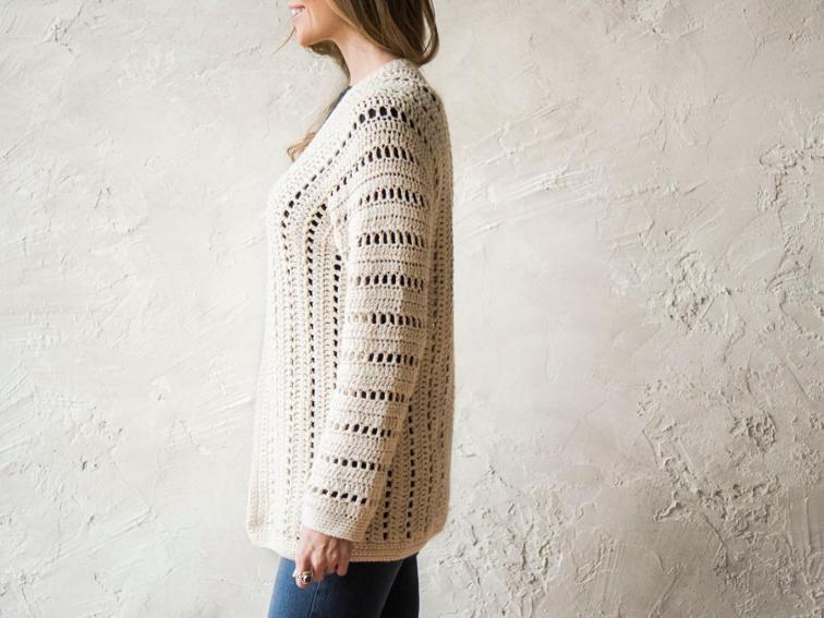 d19292945449ab Sporty One-Piece Cardigan Crochet Kit