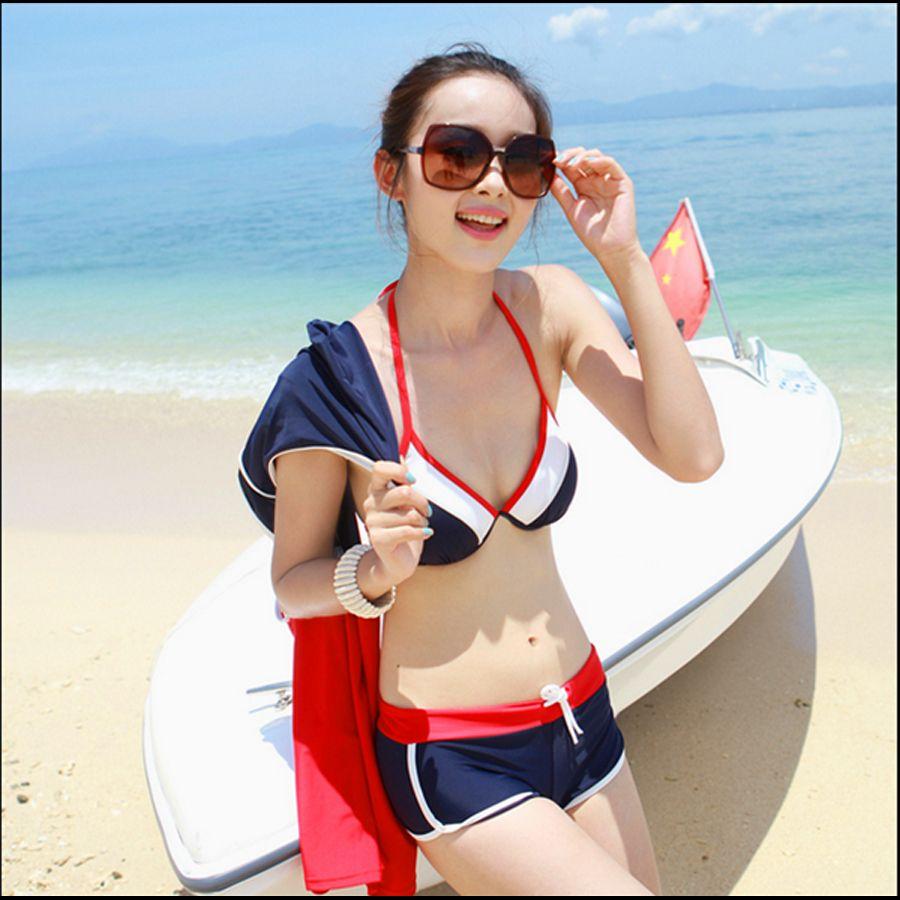 【ファッション通販SHOPLIST(ショップリスト)】水着/パーカーつきトリコロールビキニ3