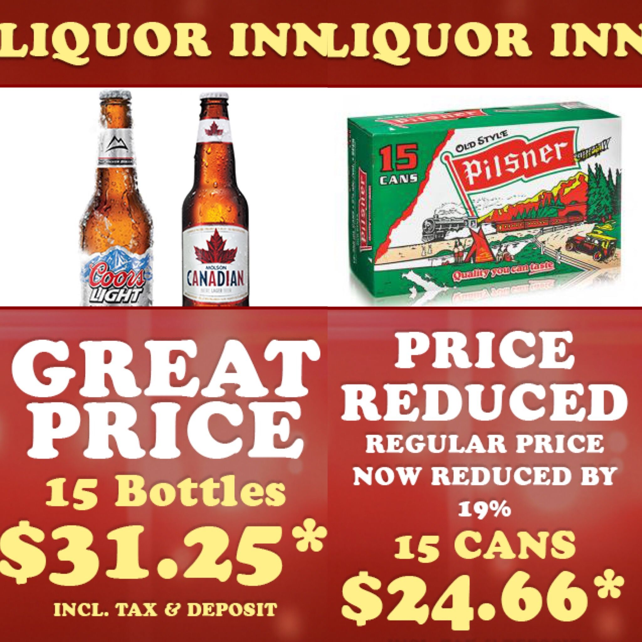 Edmonton Check Out These Awesome Prices That Liquor Inn Has Right Now Liquorinn Ibdmedia Ibd Media Edmonton Liquorstore Liquor Store Liquor Pilsner