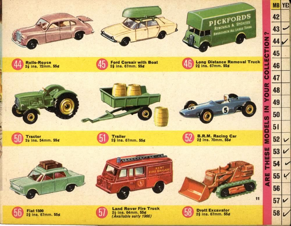 1966 Matchbox Catalogue Related Keywords & Suggestions - 1966