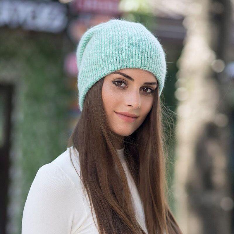 eb4ea4e2955ddc Premium Soft Warm Plain Beanie Hat for Women Winter Skullies Warm New 2018  Cap #jiangxihuitian #Beanie
