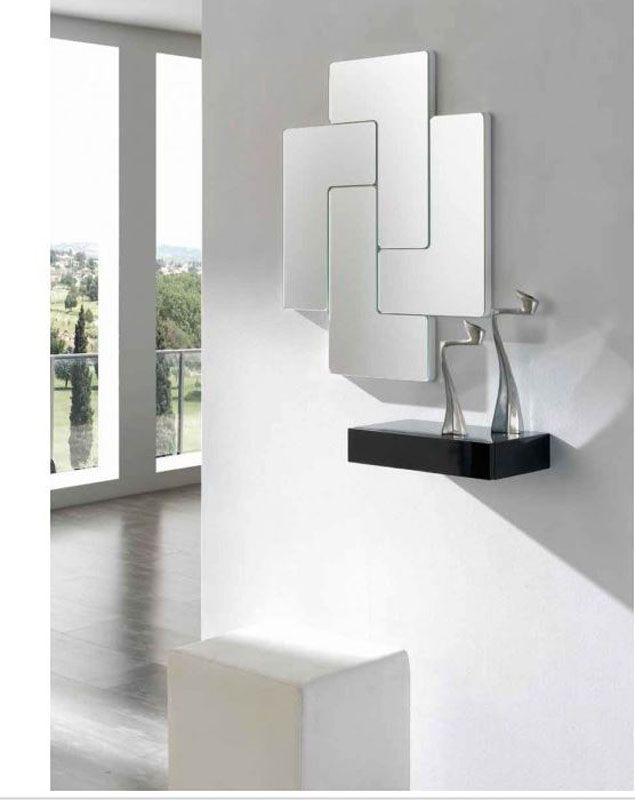 espejo moderno espejo de cristal espejos originales  Espejos  Black wall mirror Wall mirrors entryway y Vanity wall mirror