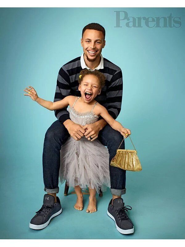 014ba8bf252 Golden State Warrior s Steph Curry with daughter Riley in Parents magazine  June 2016 issue