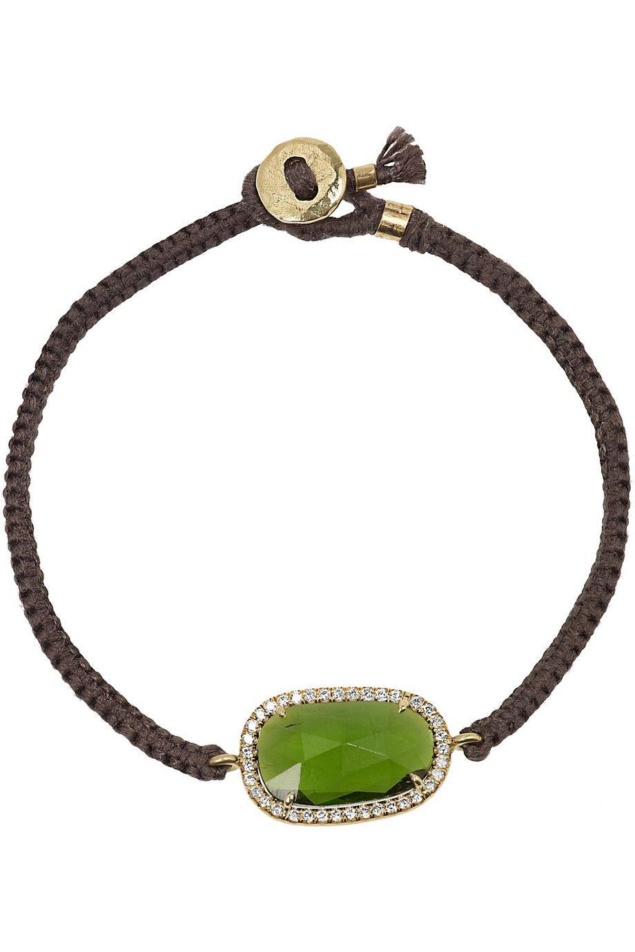 Karat gold tourmaline and diamond bracelet brooke gregsonus