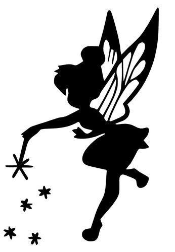 fairy fairy decal tinkerbell silhouette idea fairies silhouette