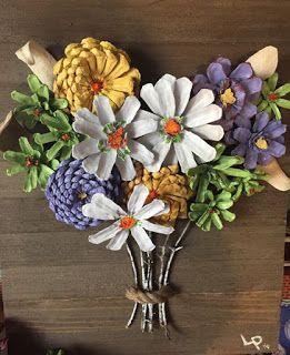 Haz Hermosos Adornos Para Tu Casa Con Piñas De Pino Cositasconmesh Pine Cone Art Pine Cone Decorations Cones Crafts