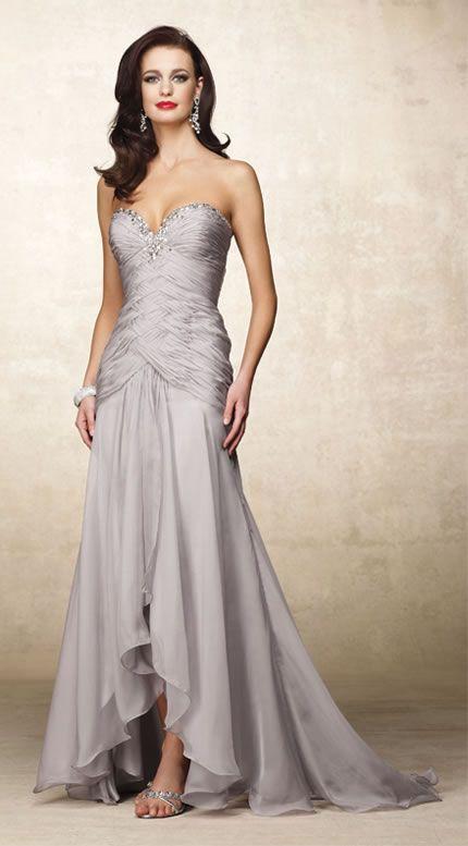 Silver Wedding Vow Renewal Dress